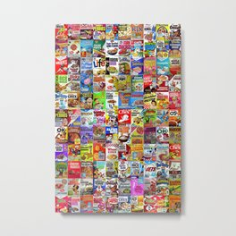 Cereal Box Montage Metal Print