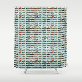 Car Pattern Shower Curtains