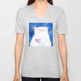 Little Love Bear Unisex V-Neck