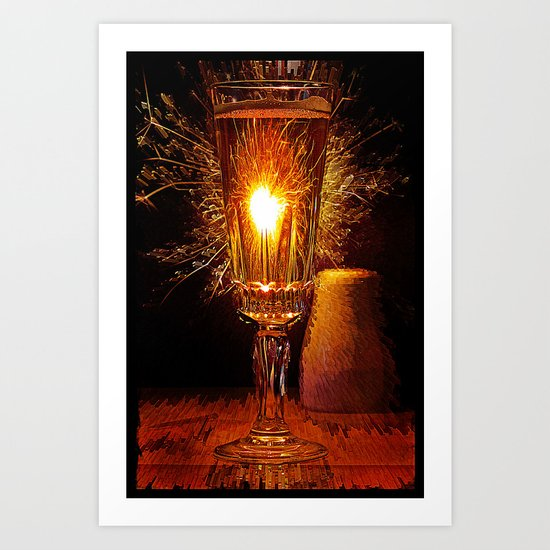 Champagne and Sparkles  Art Print