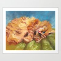 gizmo Art Prints featuring Gizmo by Liz Thoresen