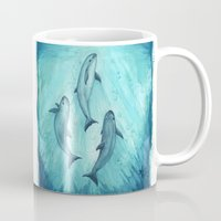 biology Mugs featuring Song of the Vaquita  by Amber Marine