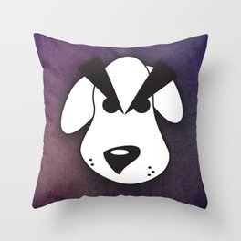 Peeved Pup Throw Pillow