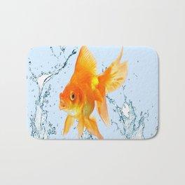 JUMPING  GOLDFISH SPLASHING  WATER ART Bath Mat