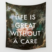 lorde Wall Tapestries featuring Swing Without A Care by Lorde Art History