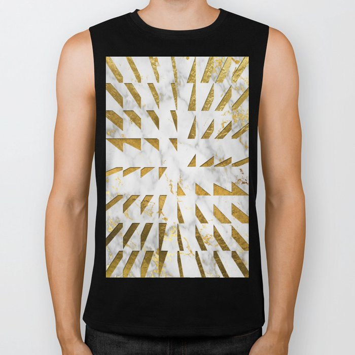 Marble and Gold Pattern #4 Biker Tank