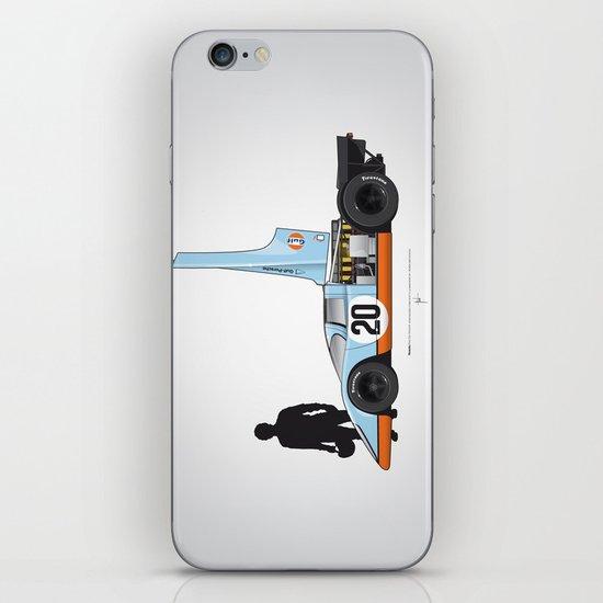 Outline Series N.º4, Steve McQueen, Porsche 917, Le Mans movie 1971 iPhone & iPod Skin