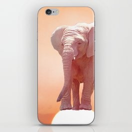 Baby elephant at sunset.Digital painting. iPhone Skin