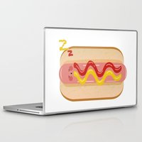 hot dog Laptop & iPad Skins featuring hot dog by Alba Blázquez