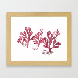 Simply seaweed - Illustration Framed Art Print
