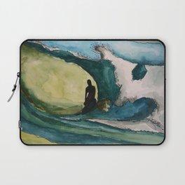 Watercolor Surfer Laptop Sleeve
