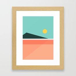 Geometric Landscape 15 Framed Art Print