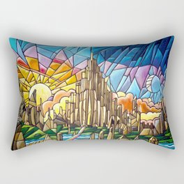 Asgard stained glass style Rectangular Pillow