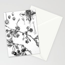 Botanical #CHERRIES Stationery Cards