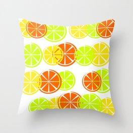 Bright Citruses Throw Pillow