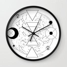 Celestial Alchemical Earth Wall Clock