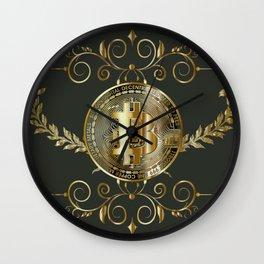 Bitcoin Gold Wall Clock