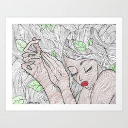 Read Between the Lines Art Print