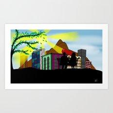 500 DAYS IN RIO Art Print