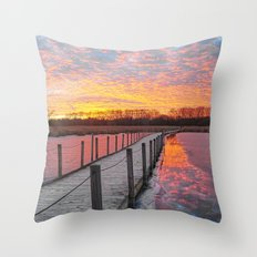 Path of Black and White Throw Pillow