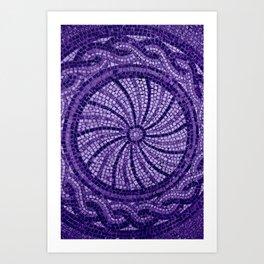 Ultra Violet Stone Tiles 18-3838 Art Print