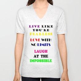 Live Love Laugh Unisex V-Neck
