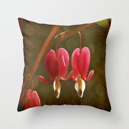 Touching Hearts Throw Pillow