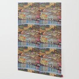 """Gustav Klimt """"Malcesine on Lake Garda"""" Wallpaper"""