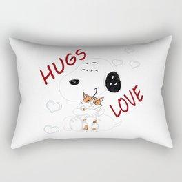 snoopy love Rectangular Pillow