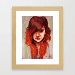 Phoenix Hair Framed Art Print