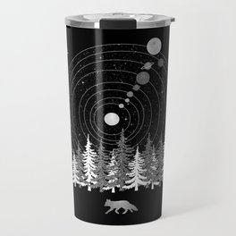 Alone Time - Solar System Nature Fox Travel Mug