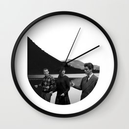 Collage Bande à part (Band of Outsiders) - Jean-Luc Godard Wall Clock