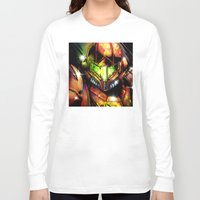 samus Long Sleeve T-shirts featuring Samus by Vincent Vernacatola