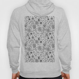 Doodle floral pattern Hoody