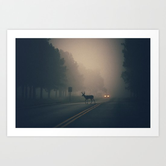 an early morning crossing Art Print