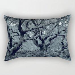 Blue grey Rectangular Pillow