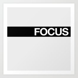 FOCUS STRIPE Art Print