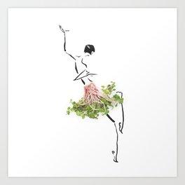 Edible Ensembles: Radish Greens Art Print