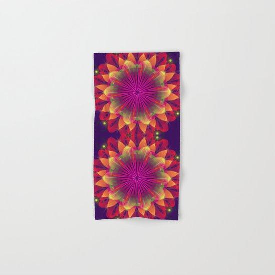 Magical colourful fantasy flower Hand & Bath Towel