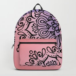 Baesic Sunset Traquil Mandala Backpack