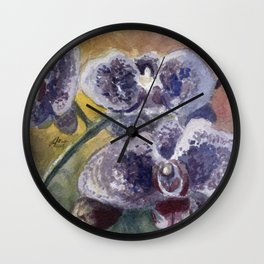 Orchid Morning Wall Clock