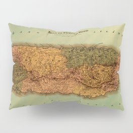 Map Of Puerto Rico 1886 Pillow Sham