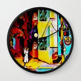 Gentrifying Candyland Wall Clock