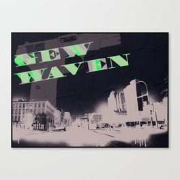 Gun Wavin, New Haven Canvas Print