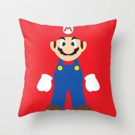 Mario - Minimalist - Nintendo Throw Pillow