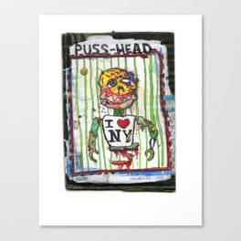 Puss Head Canvas Print