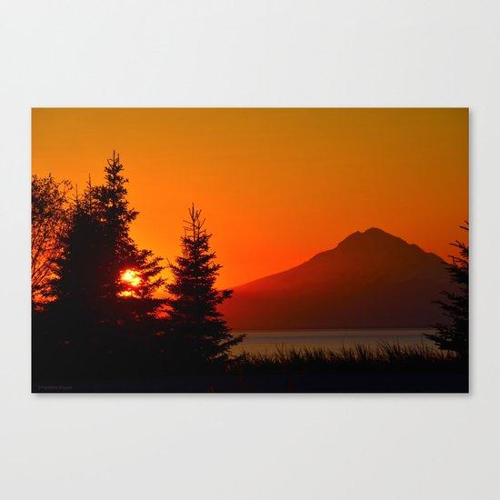 Orange Sky - Mt. Redoubt Canvas Print