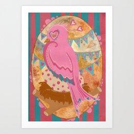 Mama bird Art Print