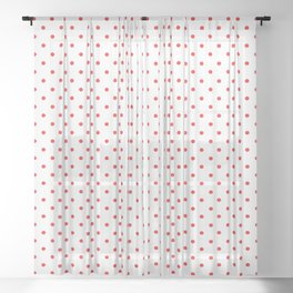 Red dots Sheer Curtain