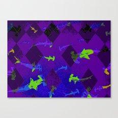 Argyle Frenzy in Amethyst Canvas Print